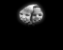 Human_eyesight_two_children_and_ball_with_retinitis_pigmentosa_or_tunnel_vision